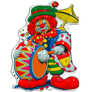 Clown mit Trommel