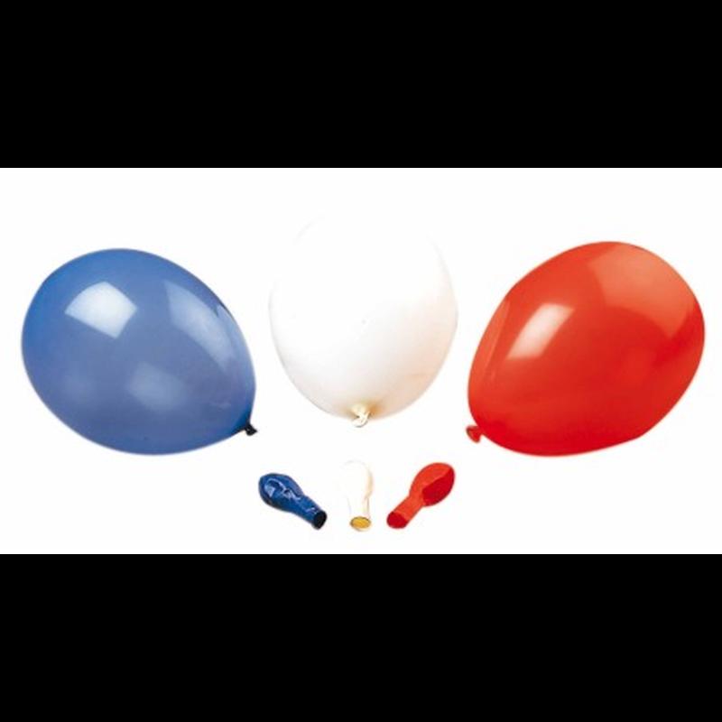 luftballons einfarbig rot wei blau 30 st ck 4 70. Black Bedroom Furniture Sets. Home Design Ideas