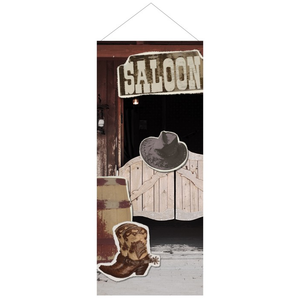 WildWest Banner hoch Saloon