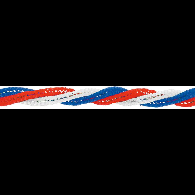Spiral-Girlande Blau-weiß-rot, 4,64